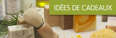 Idées de cadeaux Soleil de Mai. Savon, cosmétique, bougie et parfum d'intérieur.